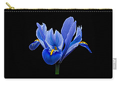 Iris Reticulata, Black Background Carry-all Pouch