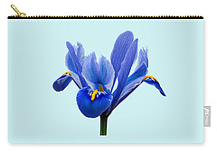 Iris Reticulata Blue Background Carry-all Pouch