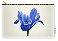 Iris Reticulata, Cream Background Carry-all Pouch