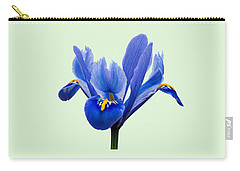 Iris Reticulata, Green Background Carry-all Pouch