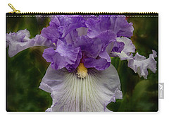 Carry-all Pouch featuring the photograph Iris Standout by Jean Noren