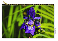 Carry-all Pouch featuring the photograph Iris Versicolor by Mark Myhaver