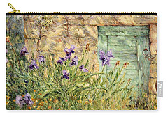 Irises At The Old Barn Carry-all Pouch