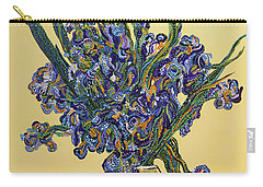 Irises  Carry-all Pouch by Erika Pochybova