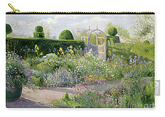 Irises In The Herb Garden Carry-all Pouch