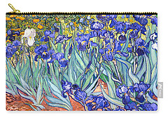 Carry-all Pouch featuring the painting Irises by Van Gogh