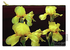 Irises Yellow Carry-all Pouch by Jasna Dragun