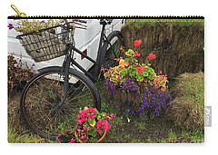 Irish Bike And Flowers Carry-all Pouch