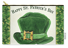 Carry-all Pouch featuring the painting Irish Cap by Debbie DeWitt