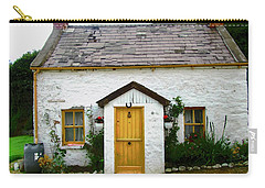 Irish Cottage With A Yellow Door Carry-all Pouch
