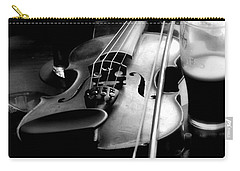 Irish Fiddle On A Break Carry-all Pouch