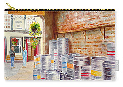 Carry-all Pouch featuring the painting Irish Suds by Karen Fleschler