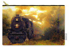 Carry-all Pouch featuring the photograph Iron Horse by Aaron Berg
