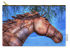 Carry-all Pouch featuring the photograph Iron Horse by Paul Wear