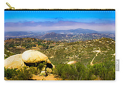 Carry-all Pouch featuring the photograph Iron Mountain View by T Brian Jones