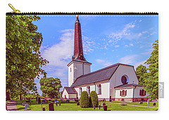 Carry-all Pouch featuring the photograph Irsta Church.  by Leif Sohlman