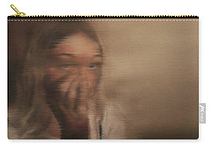 Carry-all Pouch featuring the painting Is Everyone Looking? by Cherise Foster