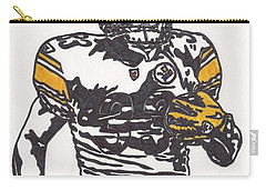 Carry-all Pouch featuring the drawing Isaac Redman by Jeremiah Colley