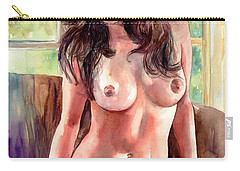 Isabella Nude Lady Portrait Carry-all Pouch
