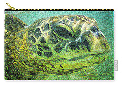 Isabelle The Turtle Carry-all Pouch by Erika Swartzkopf