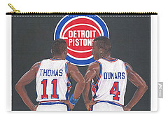 Isiah Thomas And Joe Dumars Carry-all Pouch
