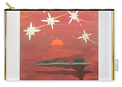 Carry-all Pouch featuring the painting Island In The Sky With Diamonds by Ron Davidson