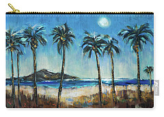 Island Lagoon At Night Carry-all Pouch