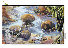 Carry-all Pouch featuring the painting Island Oasis by Rae Andrews