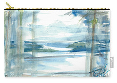 Carry-all Pouch featuring the painting Island Paradise by Reed Novotny
