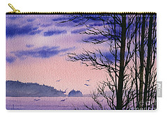Carry-all Pouch featuring the painting Island Point by James Williamson
