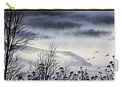 Carry-all Pouch featuring the painting Island Solitude by James Williamson