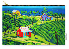 Island Time - Colorful Houses Caribbean Cottages Carry-all Pouch