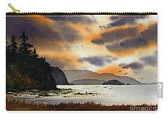 Carry-all Pouch featuring the painting Islands Autumn Sky by James Williamson