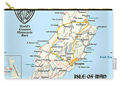 Isle Of Man Map Carry-all Pouch