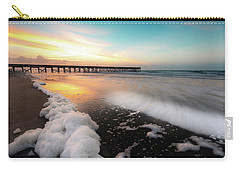Isle Of Palms Pier Sunrise And Sea Foam Carry-all Pouch