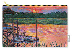 Isle Of Palms Sunset Carry-all Pouch