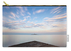 Carry-all Pouch featuring the photograph Islet Baraban With Lighthouse by Davor Zerjav