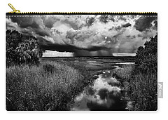 Isolated Shower - Bw Carry-all Pouch by Christopher Holmes