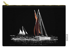 Isolated Yacht Carrick Roads On A Transparent Background Carry-all Pouch