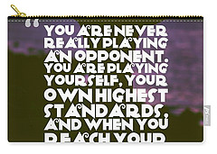 Carry-all Pouch featuring the painting Ispirational Sports Quotes    Arthur Ashe by Arthur Ashe