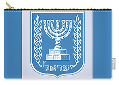 Carry-all Pouch featuring the drawing Israel Coat Of Arms by Movie Poster Prints