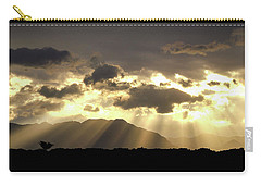 Carry-all Pouch featuring the photograph Israeli Desert Sunrise At Timna by Yoel Koskas