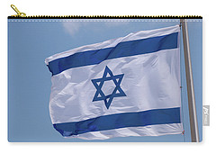 Israeli Flag In The Wind Carry-all Pouch