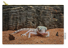 Carry-all Pouch featuring the photograph Israeli Sand Gecko - 1 by Nikolyn McDonald