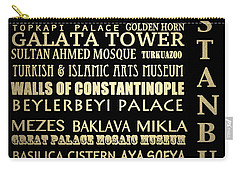 Istanbul Turkey Famous Landmarks Carry-all Pouch
