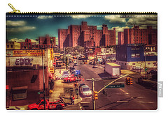 Carry-all Pouch featuring the photograph It Takes A Village - New York Street Scene by Miriam Danar
