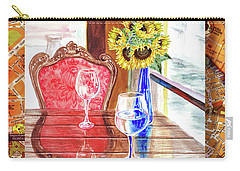 Carry-all Pouch featuring the painting Italian Cafe  by Irina Sztukowski