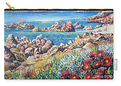 Italian Coastline Carry-all Pouch by Lou Ann Bagnall