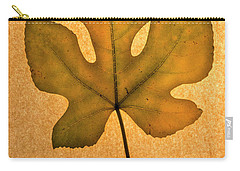 Carry-all Pouch featuring the photograph Italian Honey Fig Leaf 4 by Frank Wilson