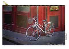 Carry-all Pouch featuring the photograph Italian Restaurant Bicycle by Craig J Satterlee